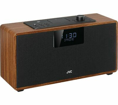 JVC RD-D328B Bluetooth All-in-one Hi-Fi System - Walnut - Currys