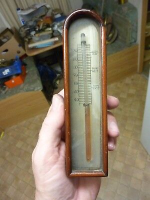 19th CENTURY  BAROMETER THERMOMETER & ARCH BOX (VF2)