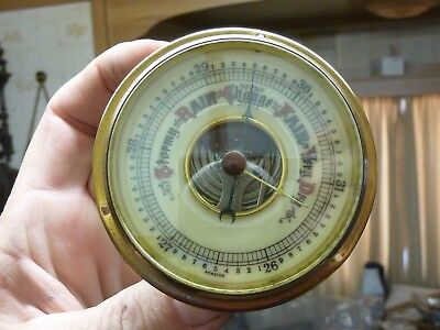 Nice Old Aneroid Barometer Insert Movement Etc - Working Fine (Ce)