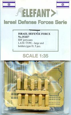 Elefant 1:35 Israel Defense Force IDF Jerrycans Late Type D 5 pcs #35.027