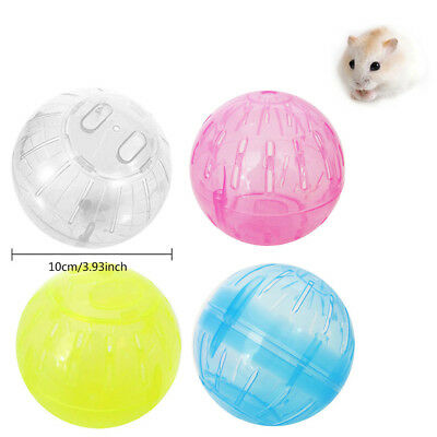 Pet Rodent Hamster Plastic Exercise Ball Gerbil Jogging Running Toy Activity