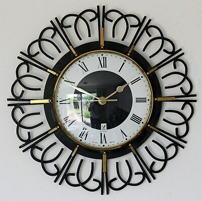 Retro 20cm Smiths Sectric Wall Clock - Vintage Distressed Shabby Bakelite Gift