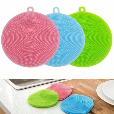 Multi-purpose Antibacterial Silicone Scrubber Dishwashing Sponge Kitchen Brush