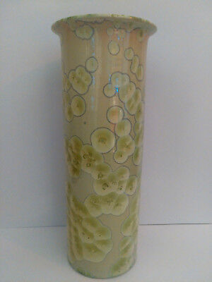 Large  Australian Studio Pottery Crystalline Glaze Vase By David Williams