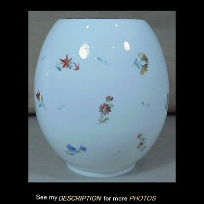 Antique Victorian Kerosene Ball Shade Floral Decoration on All Sides