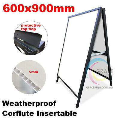 A Frame Sign (Sandwich Board) Corflute Insertable 600X900mm (Frame Only)