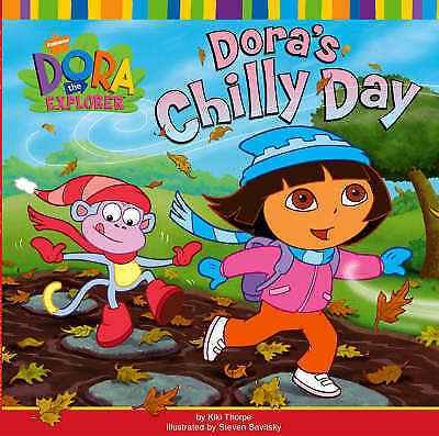 """""""AS NEW"""" Nickelodeon, Dora's Chilly Day (Dora the Explorer), Paperback Book"""