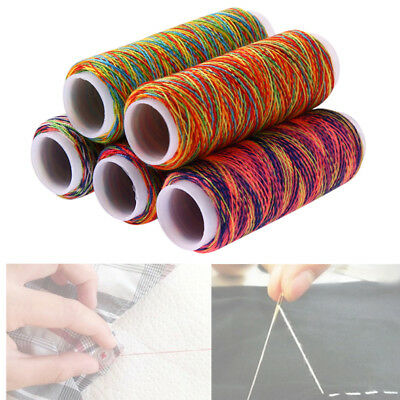 5pcs/Set Rainbow Color Sewing Thread Quilting Embroidery For Hand Machine Craft