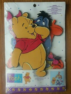 "Winnie The Pooh 4 Piece Room Decor Set Sturdy 1/4"" Paperboard Eeyore Tigger"