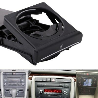New Black Front Car Cup Holder Sliding for  Audi A4/B6/B7 2002-2008 8E18625 Y8A3