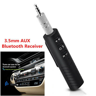 L Wireless Bluetooth Phone To 3.5mm AUX Car Stereo Audio Music Receiver Adapter