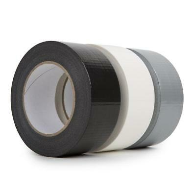 Duck Duct Gaffa Gaffer Waterproof Cloth White/Black/Silver Tape 48mm x 50m