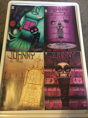 Johnny the Homicidal Maniac set  (#3 4 6 7 jhonen vasquez)  Good