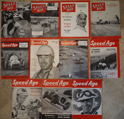 lot of 56 vintage 1950s SPEED AGE Magazines AUTO RACING