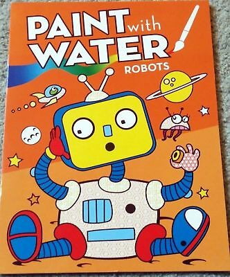 NEW PAINT WITH Water Coloring Book ROBOTS Boys Toddler No Mess Craft ...