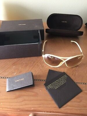 Tom Ford Vicky Women's Sunglasses- White Authentic With Case, Box & Paper Work