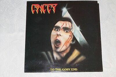 """LP Cancer """"To the gory end"""" 1990 Vinyl Solution LC 7871"""