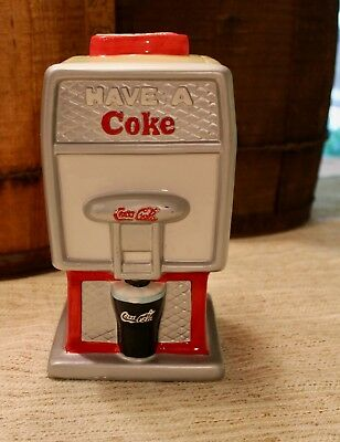 Coca Cola Cookie Jar, Soda Fountain style, 2002, Houston Harvest Gift Product