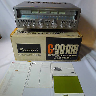 Sansui G-901DB G9000DB Pure Power DC Receiver ORIGINAL BOX *** SERVICED ***