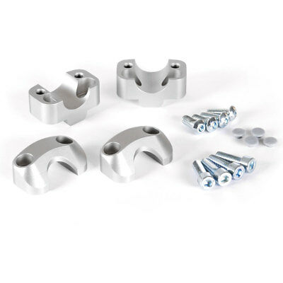 SW-Motech Bar Risers ø 22mm h 50mm Silver