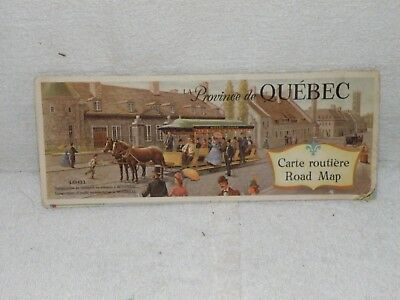 Vintage 1961 Tourist And Highway Map Providence Of Quebec Canada