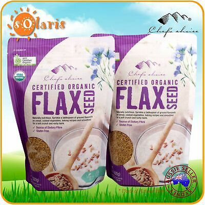 1Kg Chef's Choice Certified Organic Flax Seed Flaxseed Linseed Superfood