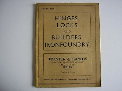 Vintage Hinges, Locks and Builders Ironfoundry Catalogue circa 1930's