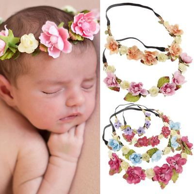 Photography Props Baby Hairband Crown Headband Floral Leaves Flower Garland