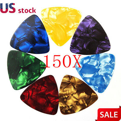 150Pcs Acoustic Bulk Celluloid Electric Smooth Guitar Pick Picks Plectrum 0.71mm