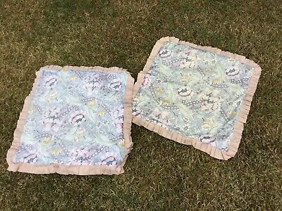 Pair Vintage Linen Fabric Cushion Covers William Morris Sanderson