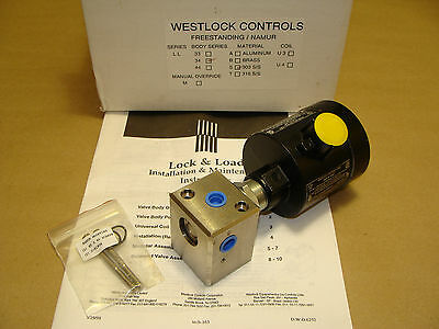Westlock Lock & Load 3-Way Stainless Steel Solenoid Valve 24-115 Vac Or Vdc Coil