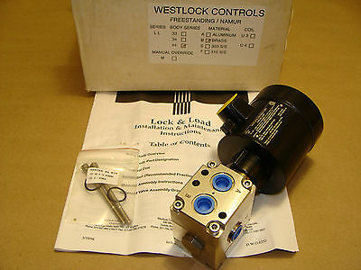 Westlock Freestanding Lock & Load 4-Way Brass Solenoid Valve 115 Vac Or Vdc Coil