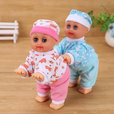 Cute Electric Simulation Baby Doll Toys Crawling Music Speaking Toy Kid Gift