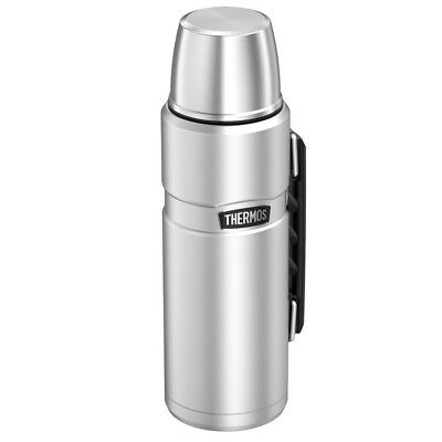 Thermos 40 Ounce Beverage Bottle Hot or Cold Stainless Steel Vacuum Insulation
