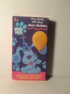 Blues Clues Blues Birthday Vhs Video Nick Jr Kids 725