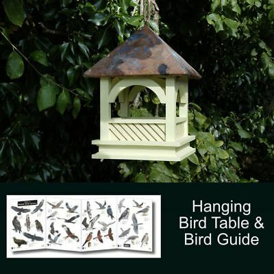 Bempton Hanging Bird Table and FREE Bird Guide