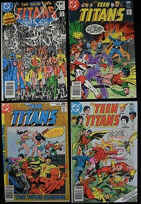 1970s-80s The New Teen Titans #'s 36, 49, 52, & 53 DC Comic Books Lot (4)