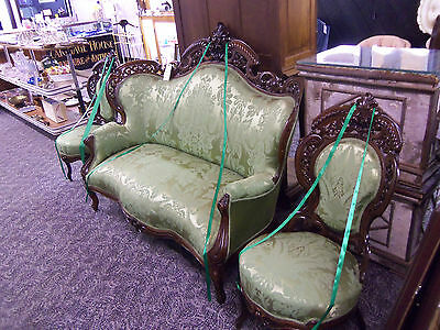 Antique Meeks Style Suite ? 3 Piece Furniture Rococo Revival New York 1850-1860