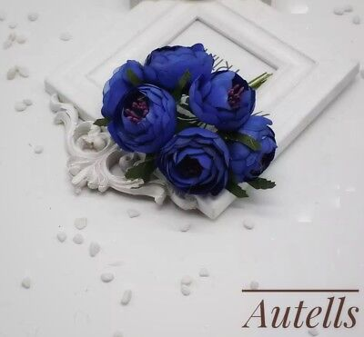 6pc artificial navy blue peony flowerssilk flowerbouquetpurple 6pc artificial navy blue peony flowerssilk flowerbouquetpurple mightylinksfo