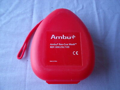 Ambu Res-Cue Mask Professional CPR Pocket Hard Clamshell CaseREF 000 252 103!K6