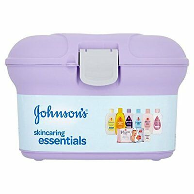 Johnson's Baby Box Skincaring Essentials Carry Storage Bath Oil Wipes Shampoo