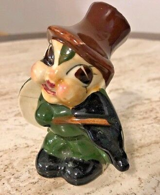 Vintage 1940's Japan Anthropomorphic Bug Figurine Playing Violin