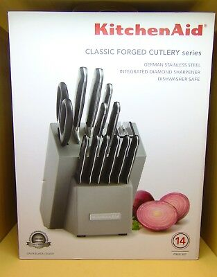 KITCHENAID CUTLERY CLASSIC Forged 14PC German Stainless ...