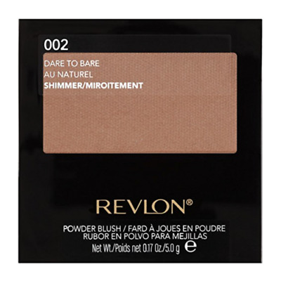 Revlon Powder Blush with Brush 002 DARE TO BARE / Shimmer