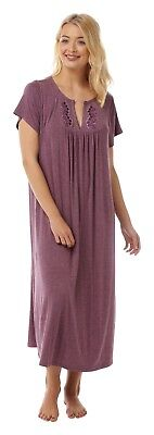 e26b1913da Ladies Plus Size Soft Viscose Jersey Nightdress  Nighty Size 14-32 2 Colours