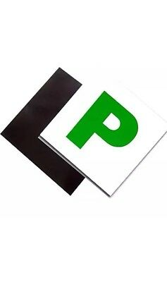 2 x MAGNETIC GREEN NEW DRIVER P PLATES JUST PASSED FOR CAR