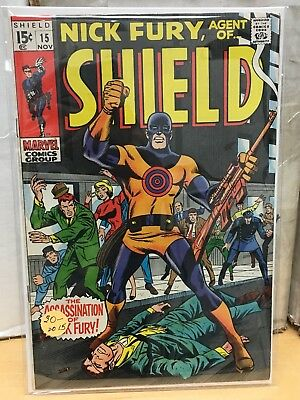 Nick Fury, Agent of SHIELD #15 - First Appearance of Bullseye - HIGH GRADE!