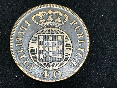 T2: World Coin Portugal 1821 40 Reis. Free Shipping in U.S.