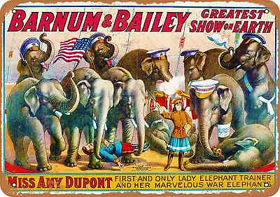 """7"""" x 10"""" Metal Sign - Greatest Show on Earth - Vintage Look Repro"""