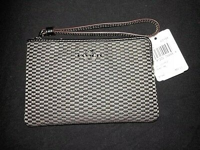 NWT Authentic Coach Signature Small Wristlet